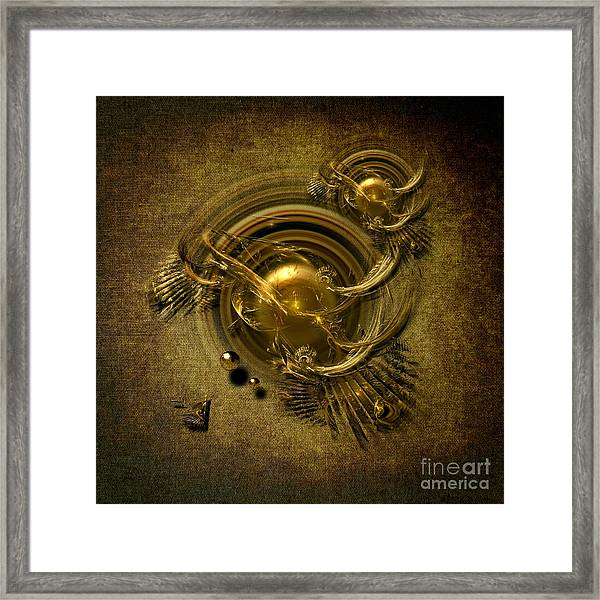 Gold Birds Framed Print