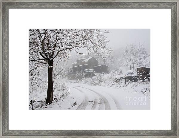 Gold King Mine In Snow Framed Print