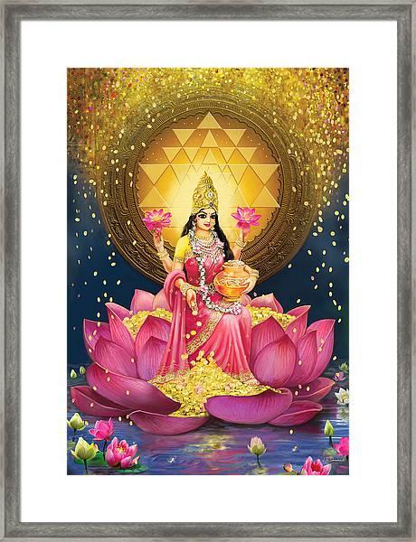 Gold Lakshmi Framed Print