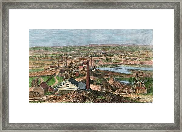 Gold Mines At Sandhurst, Victoria by Mary Evans Picture Library