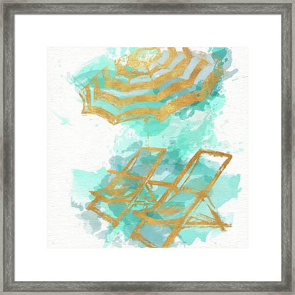 Gold Shore Poster Framed Print