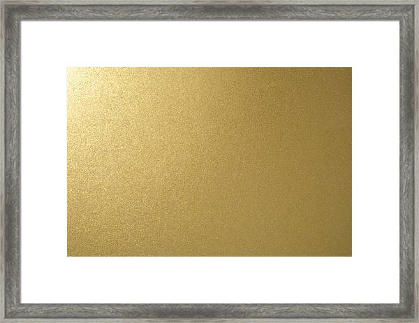 Gold Texture Background Framed Print by Katsumi Murouchi