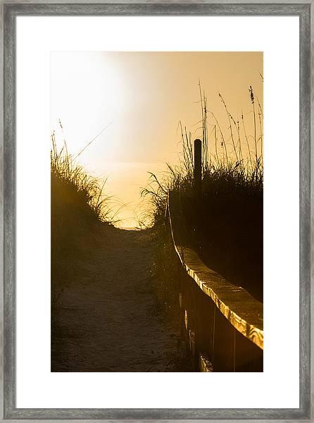 Golden Beach Access Framed Print
