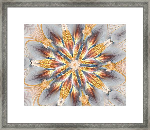 Golden Beach Kaleidoscope Framed Print
