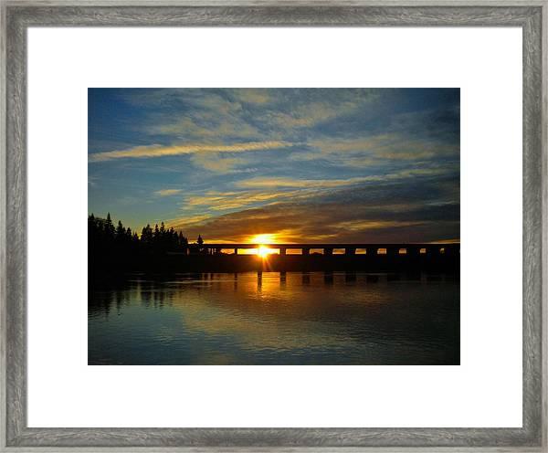 Golden Bronze Sunset Framed Print