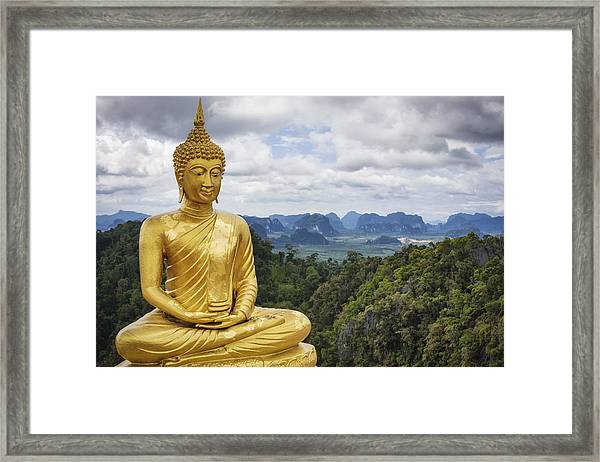Golden Buddha - Tiger Cave Temple / Thailand Framed Print by Cinoby