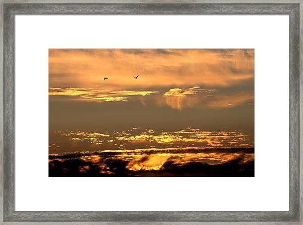 Golden Clouds Framed Print