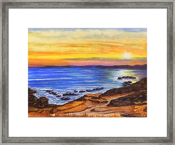 Golden Cove Framed Print