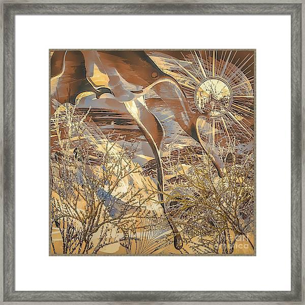 Framed Print featuring the digital art Golden Dream by Eleni Mac Synodinos
