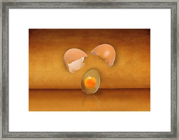 Golden Droplet Framed Print