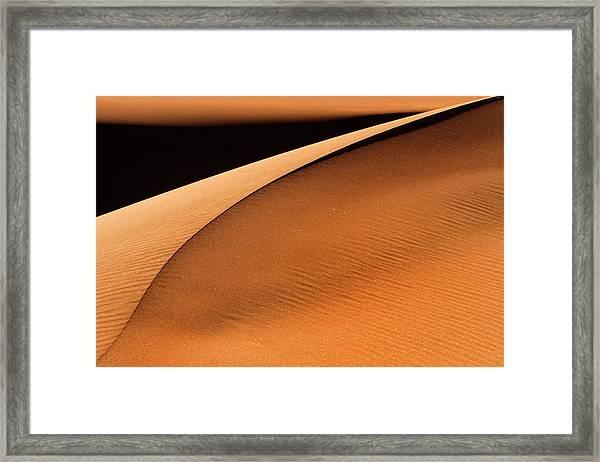 Golden Dunes Framed Print