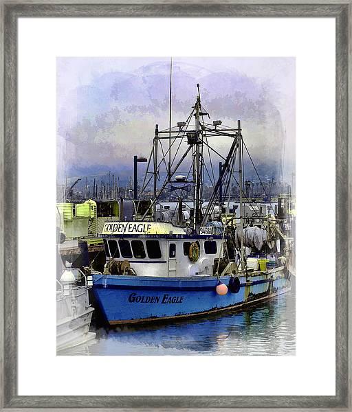 Golden Eagle Fishing Boat Framed Print
