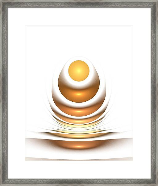 Golden Egg Framed Print