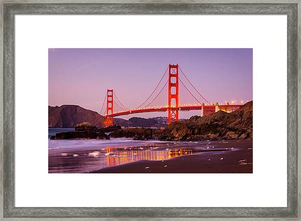 Golden Gate Bridge From Baker Beach Framed Print