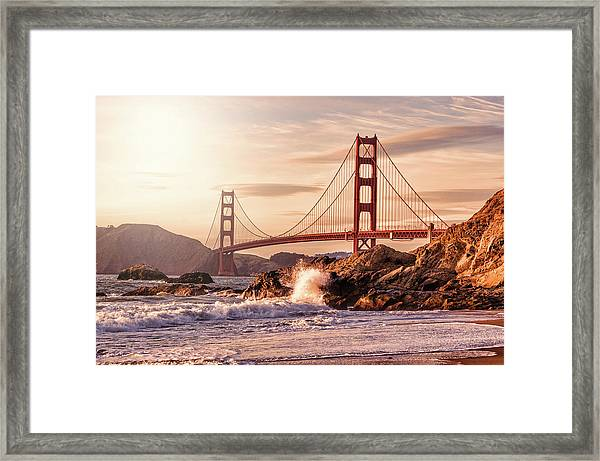 Golden Gate Bridge From Baker Beach Framed Print by Karsten May