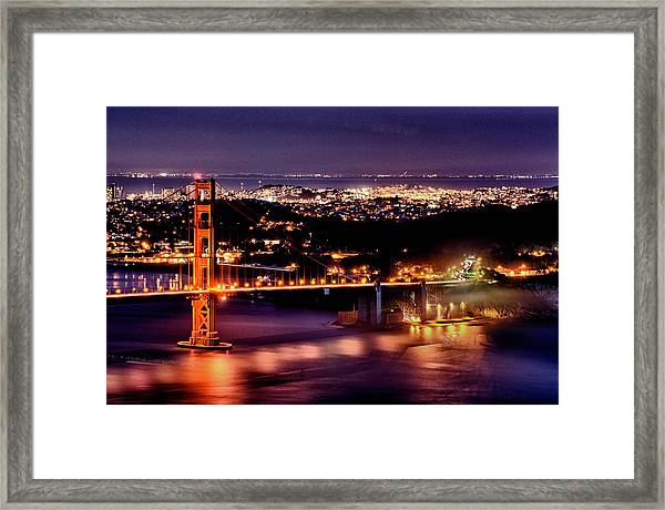 Framed Print featuring the photograph Golden Gate Bridge by Robert Rus
