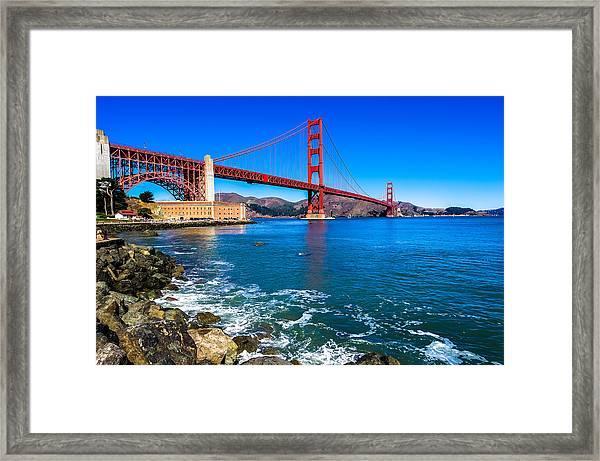 Golden Gate Bridge San Francisco Bay Framed Print