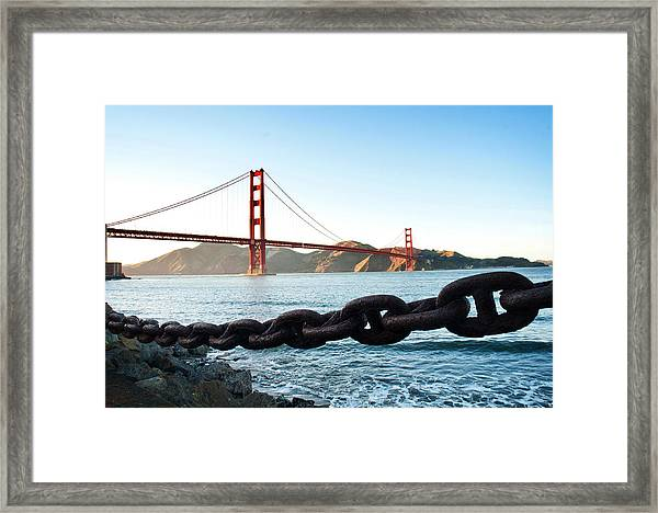 Golden Gate Bridge With Chain Framed Print