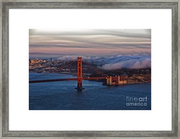Golden Gate Sunset Framed Print