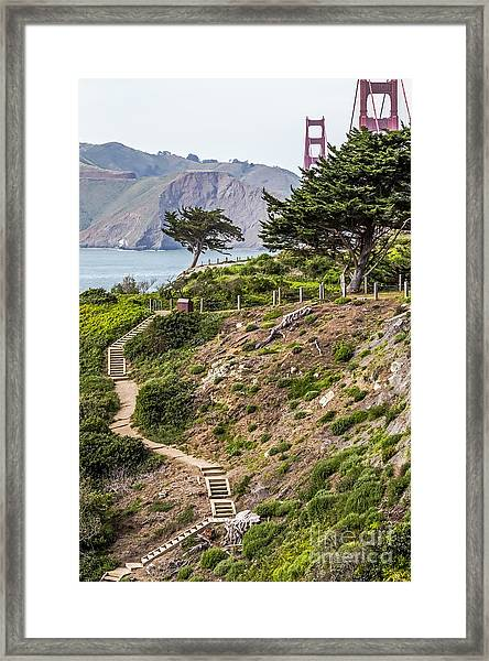 Golden Gate Trail Framed Print