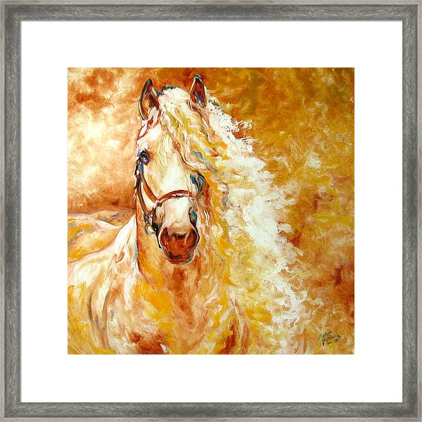 Golden Grace Equine Abstract Framed Print
