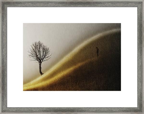 Golden Hills Framed Print by Helge Andersen
