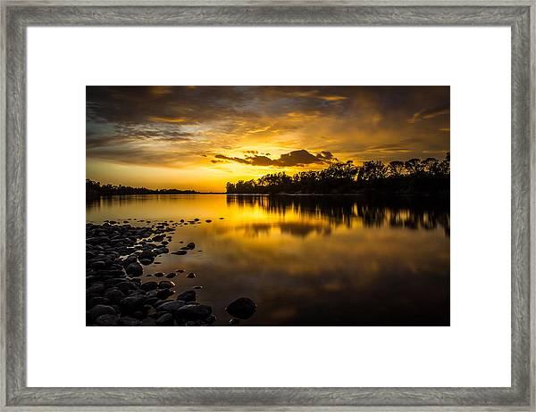 Golden Lake Natoma Framed Print