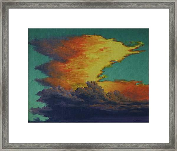 Golden Monsoon Framed Print