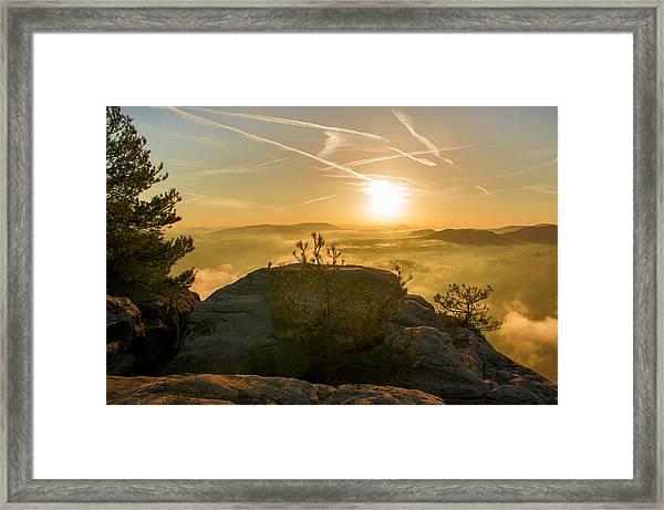 Golden Morning On The Lilienstein Framed Print