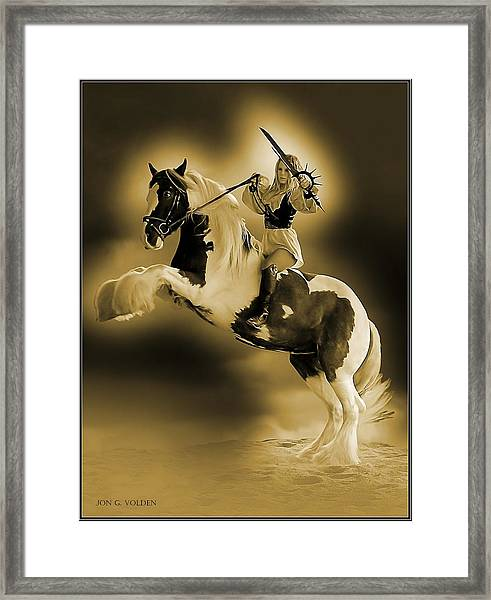 Golden Rider Framed Print