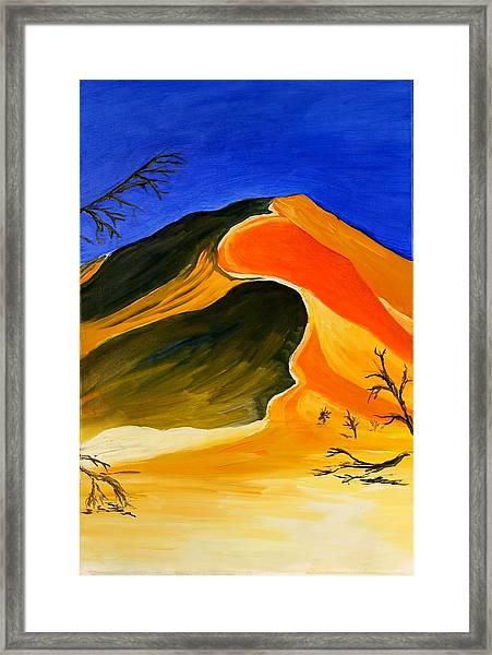Golden Sand Dune Center Panel Framed Print