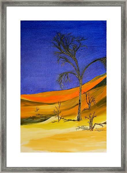 Golden Sand Dune Left Panel Framed Print