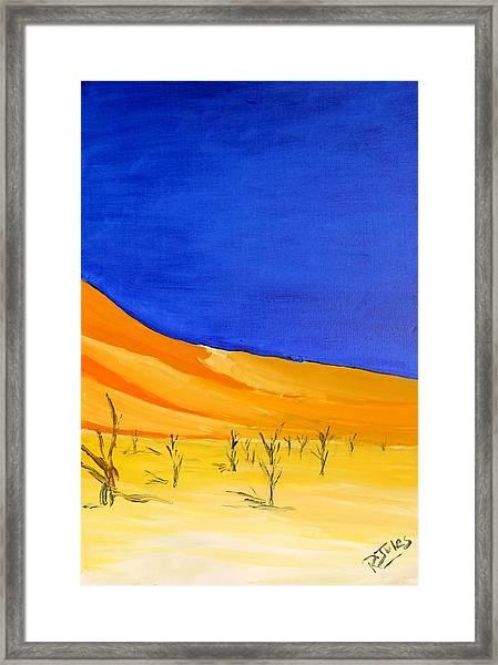 Golden Sand Dune Right Panel Framed Print