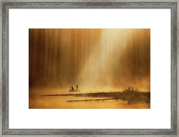 Golden Silence Framed Print
