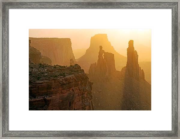 Golden Spires Framed Print