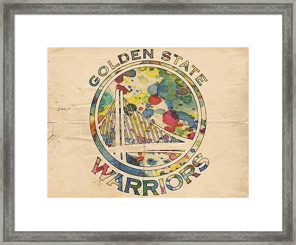 Golden State Warriors Logo Art Framed Print