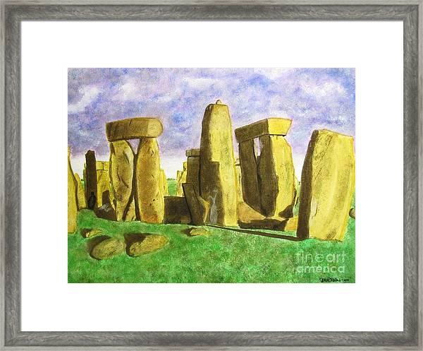 Golden Stonehenge Framed Print