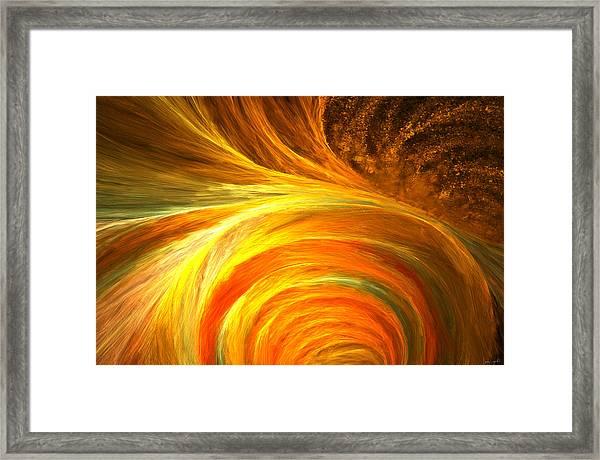 Golden Swirls Framed Print