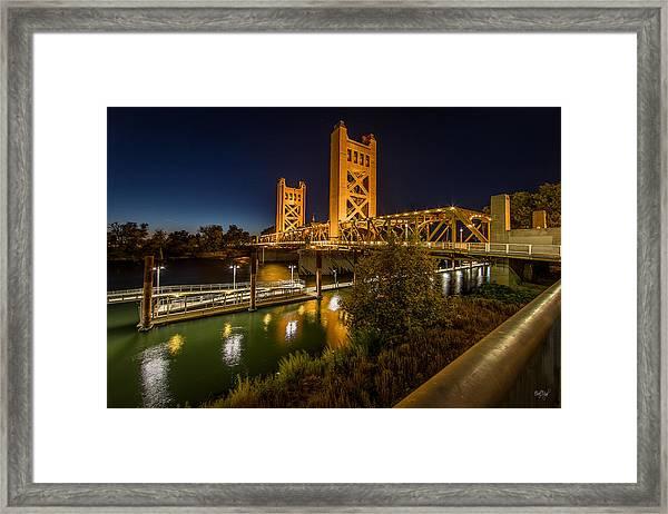 Golden Towers Framed Print