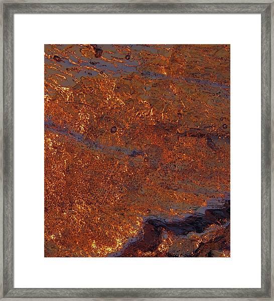 Golden Waters Framed Print