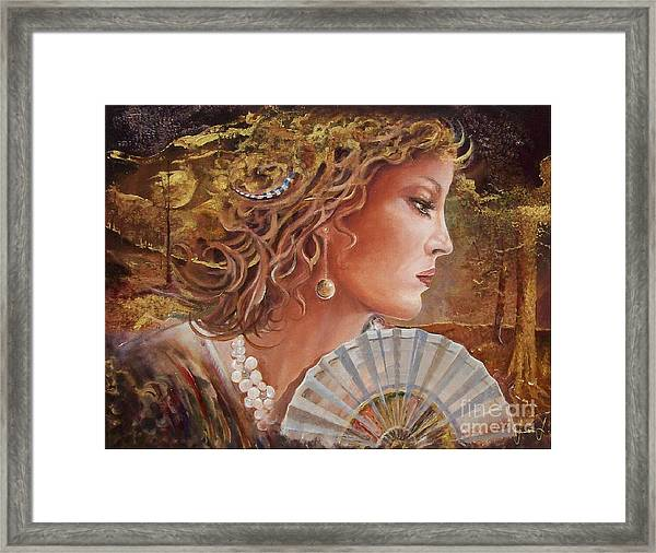 Golden Wood Framed Print