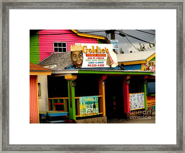 Goldie's Conch House Framed Print