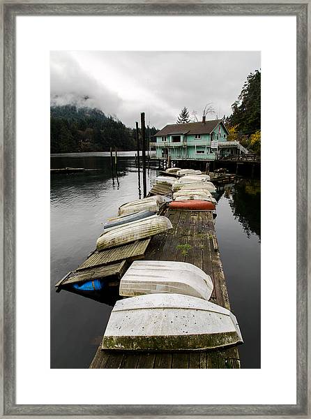 Goldstream Marina Framed Print