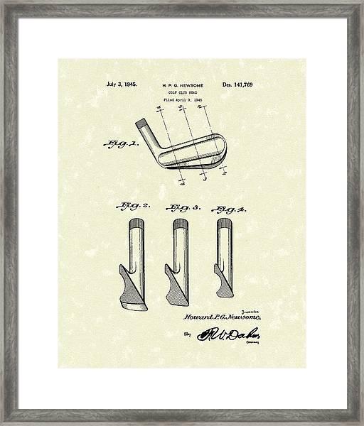 Golf Club 1945 Patent Art Framed Print