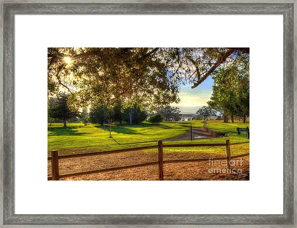 Golf Course Ocean View Framed Print