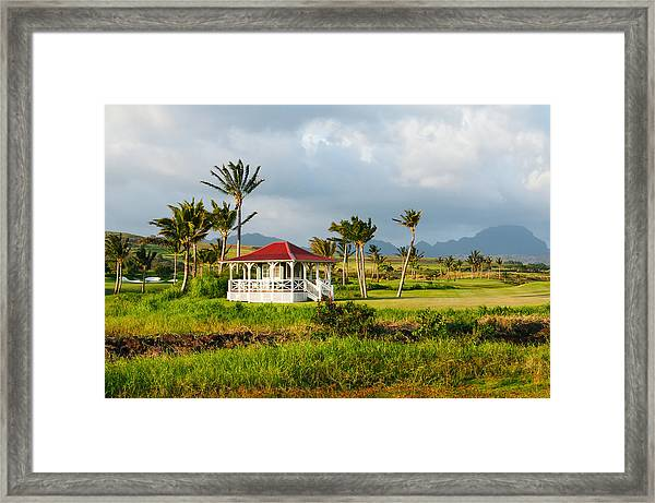 Golf Course On Poipu Shores Kauai Framed Print