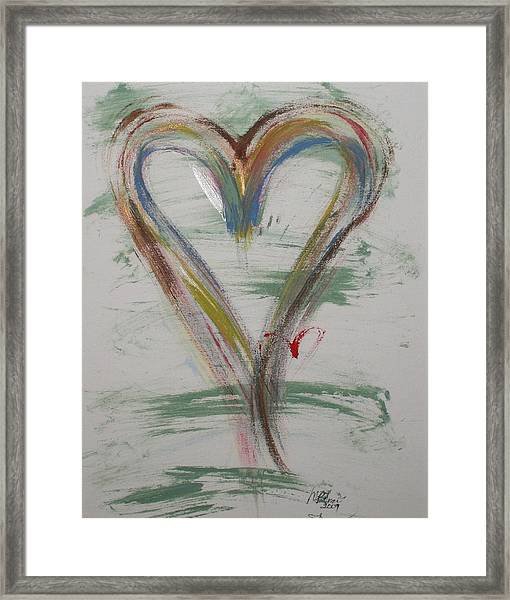 Golf Heart Framed Print
