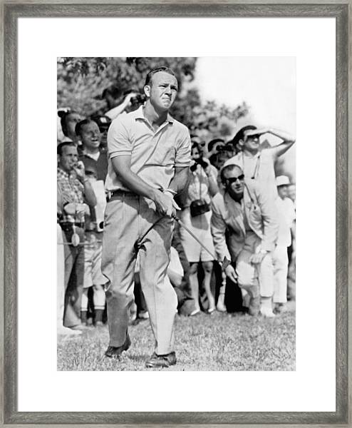 Golfer Arnold Palmer Framed Print