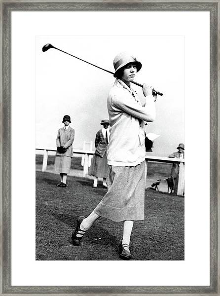 Golfer Joyce Wethered Framed Print by Photo-Illustration Company