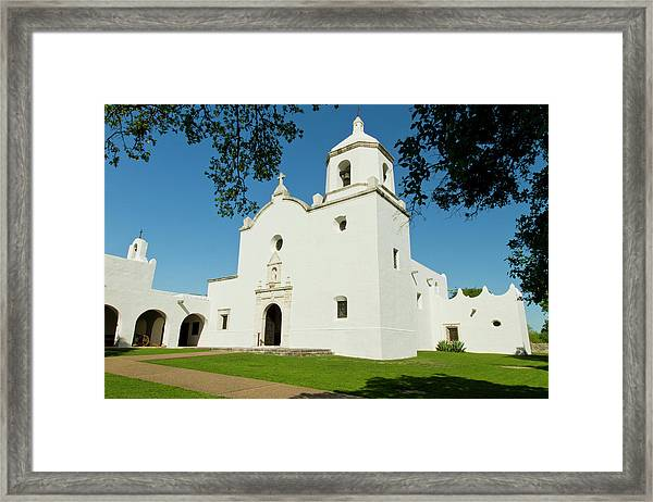 Goliad, Texas, Usa, Mission Nuestra Framed Print